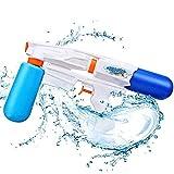 Rolytoy Wasserpistole Spritzpistole Lange Reichweite Badespielzeug Strandspielzeug mit 2 Wassertanks für Kinder und Erwachsenen