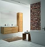 ALLIBERT Badmöbel-Set Badmöbel vormontiert Eiche Hell Softclose Waschtisch 120cm