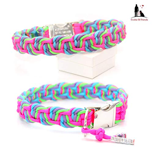 Lilac Dance (Paracord Halsband, Paracordhalsband, Hundehalsband, Halsband Paracord, Muster