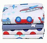 Clevere Kids Baby Mullwindeln 4er-Pack/Spucktücher / 100% Baumwolle/Öko-Tex / 70x80 (Jungs)