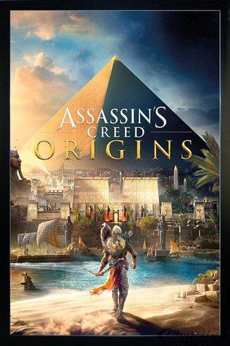 Assassin's Creed Poster Origins Cover (66x96,5 cm) gerahmt in: Rahmen schwarz