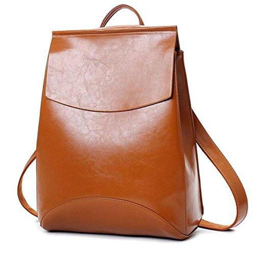 Y&F Lady Taschen Reise-Mehrzweck-Paket Rucksack Schultertasche 28 * 13 * 35cm Brown