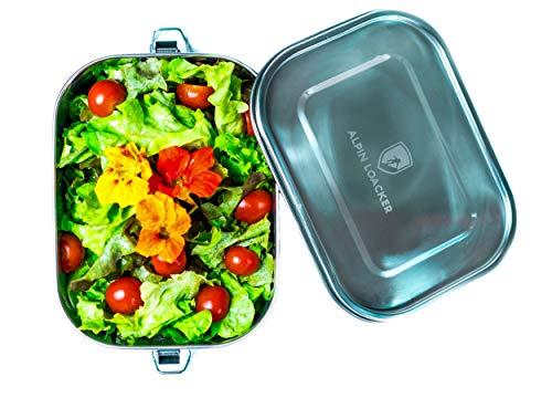 Alpin Loacker Edelstahl Lunchbox auslaufsicher und dicht. Die dichte Brotdose, Brotbox, Vesperbox, Vesperdose 1400ml