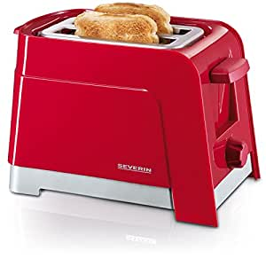 Severin AT 2599 Automatik-Toaster / rot-silber