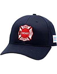 95187a6576a3b Chicago Fire Department Maltese Logo W Chicago Flag Patch Velcro Back Hat -10780