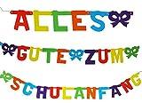 """"""" Alles Gute zum Schulanfang """" - 3,1 m Girlande - Kinder Party - Schuleinführung / Schule Schulbeginn Fest - ABC Schützen / Kindergeburtstag - Tischdeko - Einschulung / Raumdekoration - Wimpel & Banner / Dekoration Schultüten"""