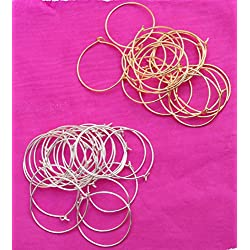 Udhayam Gold/Silver Round Loop Ring For Jewellery Making