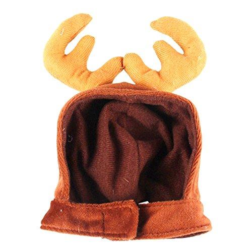 Jspoir Melodiz Hund Hut, Teddy Hund Geweih Mütze, Welpen Gentleman Hut, Weihnachten Heimtierbedarf