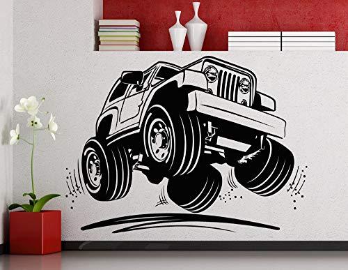 Coole Jeep Auto Muster Kunst Wandtattoos Home Wohnzimmer Modernes Dekor Mode Wandaufkleber Riesige Auto Muster Spezielle Wandbilder Wm 75x105 cm