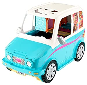 Barbie Barbie-DLY33 Coche Parque de Perritos, Color Azul/Rosa (Mattel DLY33)
