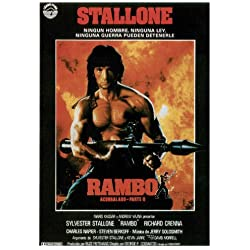 Rambo: First Blood Poster (27 x 40 Inches - 69cm x 102cm) (1982) Spanish