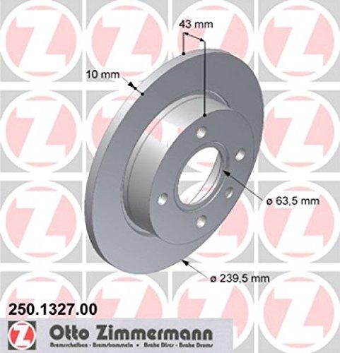 ZIMMERMANN Bremsscheiben, 250.1327.00 (2 Stück)