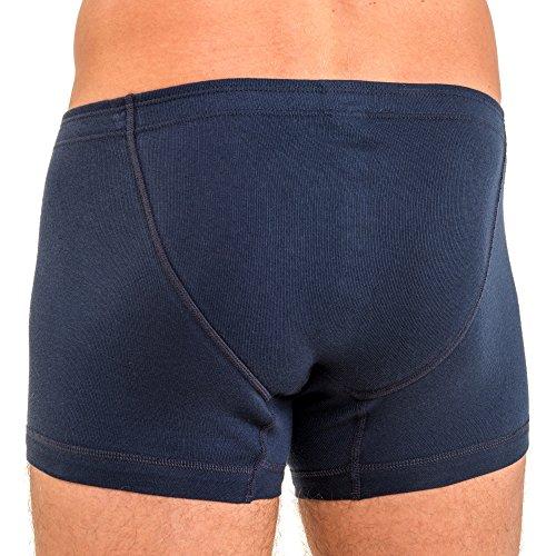 HERMKO 3901 3er Pack Herren Boxershorts Pant aus 100% Baumwolle Marine