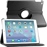 ebestStar - pour Apple iPad 9.7 2017, iPad Air 1 - Housse Coque Etui PU cuir Support rotatif 360° + Film, Couleur Noir [Dimensions PRECISES de votre appareil : 240 x 169.5 x 7.5 mm, écran 9.7'']