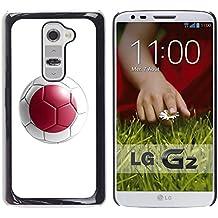 STPlus Bandera y balón japoneses del equipo de fútbol de Japón Carcasa Funda Rigida Para LG G2