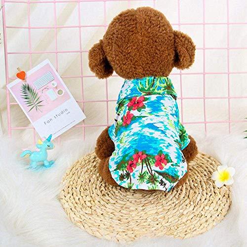 JSMeet Hund Katzen Shirt, süße lustige Katze Outfits Hundebekleidung Kostüm Kühlung Sommerkleidung Strandurlaub Stil für kleine mittlere Haustier, 4 Größe für Ihre Haustiere (blau) (Kostüm Kaufen Furry)