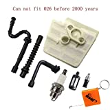 HURI Luftfilter und Zündkerze Benzin / Öl Schlauch Filter für Stihl 026 MS240 MS260 & Neuere Modelle 024