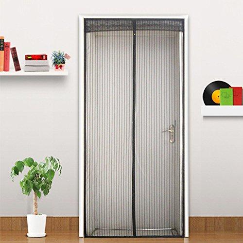 Moskitovorhang Klett-Bildschirm Tür Magnet-Bildschirm Tür Sommer Magnetische Soft-Screen Tür Verschlüsselung Stille Anti-Mücke Striped Vorhang,A_85x220cm
