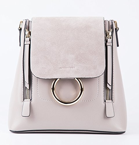 e627b5ac909b3 LIHI Handtasche Damen Handtasche Elegant Rucksack Echtes Leder Handtasche  Marken 25 23 13 cm motty grau