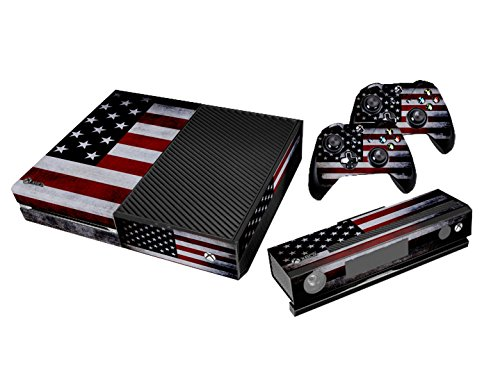 Xbox One Protective Vinly Skin Sticker Consola Decal Pegatinas + 2 Controlador & Kinect Skins Set (Flags