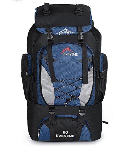 Sporttasche mit großer Kapazität im Freien Bergsteigen MS Bao Nan 80L Wandern Rucksack Camping Dunkelblau