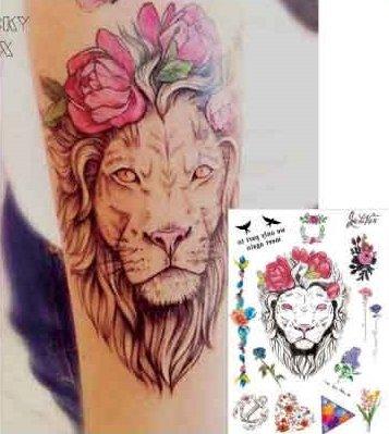 eau-couleurs-aquarelle-faux-tatouages-tatouages-pays-carte-flash-lion-roses-ancre-gomtrique-tatouage
