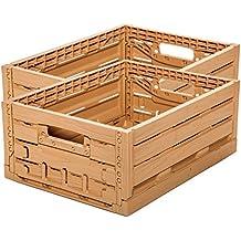 Diseño de madera 2 Stk fruta (Caja con tapa Caja de almacenamiento Caja de manzana