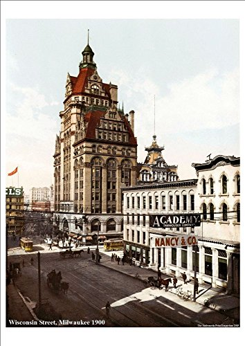 wisconsin-street-milwaukee-vintage-american-street-scene-1900-stunning-highly-detailed-a4-glossy-art