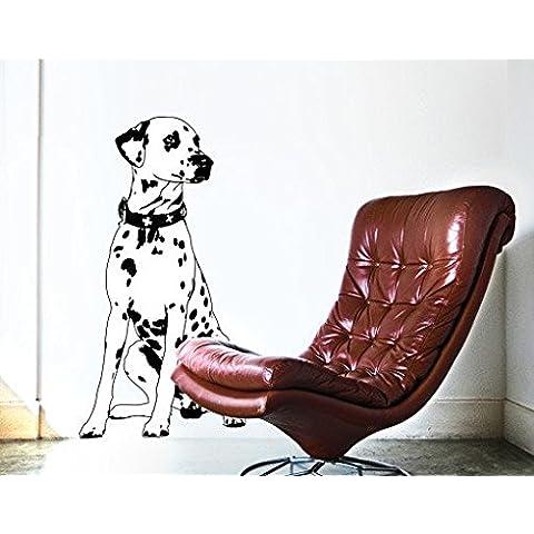 Adesivo da parete No. TA2Dalmata cane animale domestico amico Razza animale cane, Orange, 276x144 cm