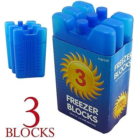 3pk congelador bloque–mantiene su comida o bebidas fresco en días caliente, 3 unidades