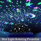 Sternenhimmel Projektor, innislink Star Nachtlicht Sternenprojektor 360° drehbar Romantisches LED Sternen Lampe Projektionslampe für Kinder Zimmer, Schlafzimmer, Hochzeit, Geburtstag, Parteien - Blau - 3