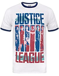 Justice League Character Strips Men's Ringer T-Shirt