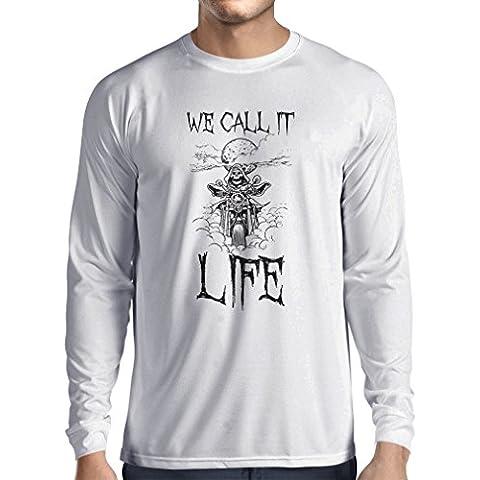 Camiseta de manga larga Lo llamamos Vida ropa de la motocicleta