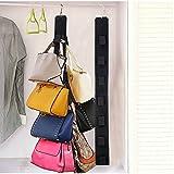 Travelmall Colgador de Bolsos con Gancho para Armario de 14 Bolsos a Dos Lados del Colgador 8x 94,5cm Negro