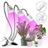 Pflanzenlampe MOHOO 15W Pflanzenlampen Pflanzenlicht Wachsen licht Pflanzenleuchte Wachstumslampe mit 360 Grad einstellbar Flexible für Haus Garten Aquatische Pflanzen Blumen Veg Sämling