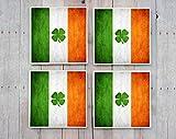 Untersetzer Irland/Irland/Irische Flagge/Untersetzer/Irland irische Flagge Geschenk/Irish Geschenk/Untersetzer/St. Patrick 's Day/Shamrock/Dublin