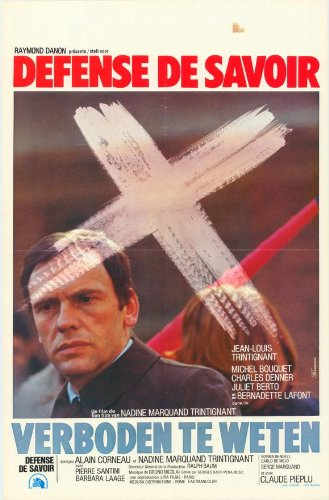 Forbidden to Know Plakat Movie Poster (27 x 40 Inches - 69cm x 102cm) (1973) Belgian
