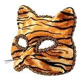 The Rubber Plantation 619219292535 Tiger Venetian Masquerade Halloween Il Gatto Feline Cat Fancy Dress Party Prom - Disfraz de pelota de baile, unisex adulto, talla única