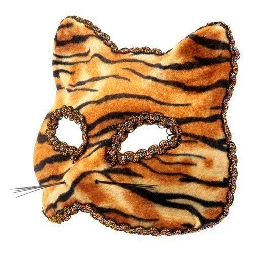 The Rubber Plantation TM 619219292535Tiger venezianischen Masquerade Halloween IL Gatto Feline Cat Fancy Kleid Party Ball Maskenball Kostüm Zubehör, Unisex, ONE SIZE