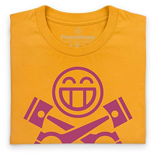 PistonHeads Smiley Berry T-Shirt, Herren Gelb