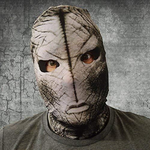 L&S PRINTS FOAM DESIGNS gruselig Halloween Gesichtsmaske Alien Menace Design fünf Farben Kostüm Horror - grau, Keine Angaben