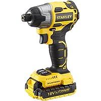 Stanley SBI201D2K Şarjlı Kömürsüz Darbeli Tornavida, Sarı/Siyah