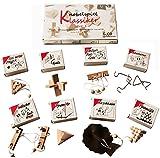 8 beliebte Mini Knobel- / Geduldspiele im Geschenkkarton