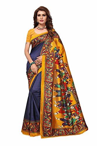 Vahni Women's Bhagalpuri Art Silk Saree With Blouse Piece Material