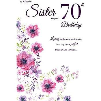 ICG Sister 70th Birthday Card