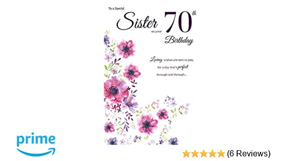 ICG Sister 70th Birthday Card
