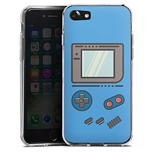 Apple iPhone 7 Plus Hülle Tough Case Schutzhülle Gameboy Gamer Konsole Silikon Case transparent