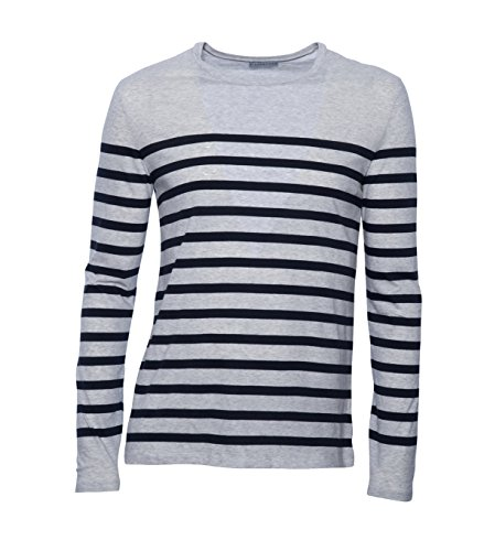 KIEFERMANN Herren Shirt Ian gestreift 375 silvermelange