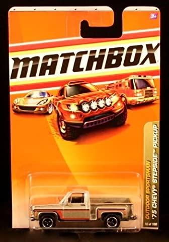 '75 CHEVY STEPSIDE PICKUP Outdoor Sportsman Series (#3 of 10) MATCHBOX 2010 Basic Die-Cast Vehicle (#76 of 100) by Matchbox