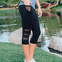 Baycheey 2020 Pantalones de la Yoga Siete Parte de Movimiento Hit Underpant Bolsillo Lateral del teléfono móvil de Cintura Alta melocotón Caderas Apretado Pantalones de Estiramiento de la Cadera Yoga